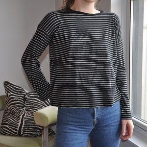 Vince long sleeved stripe tee
